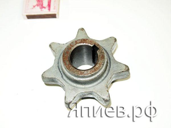 Звёздочка 7 зуб. зернового шнека нижняя (d=30) КДМ 3049 ра