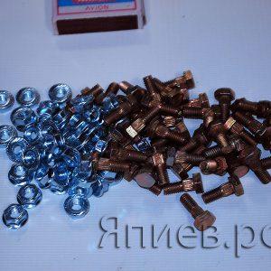 Болт + гайка М6*16 Шумахер (крепление сегмента) (К) гр, к-т 50 шт.