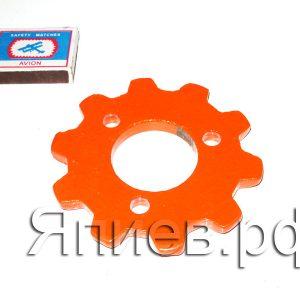 Звёздочка привода опорного колеса СУПН (оранжевая) 00.112 (У) ф