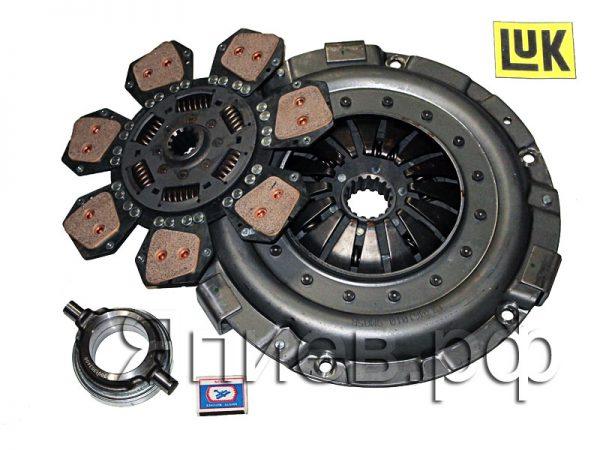 Корзина сцепления МТЗ-80, -82 лепестковая с отводкой и диском 633308710 (LUK) а1