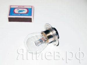 Лампа фарная А12-50+40 (2-конт., 12В) 61254 (МАЯК) хм