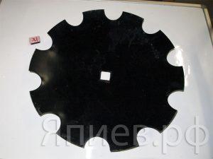 Диск БДТ с квадр. отв. (650 мм, 14,5 кг) 428.002 (РЗЗ) ав