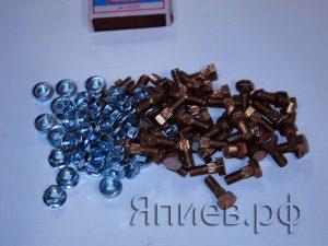 Болт + гайка М6*16 ЕВРО (крепление сегмента) (К) гр, к-т 50 шт.