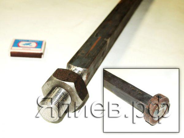 Вал ЛДГ квадратный (28 мм; 1,65 м)  с гайкой 10М.05.101-01 а