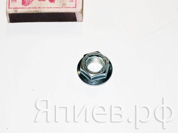 Гайка М12 фланцевая (крепление головки привода) (01088)