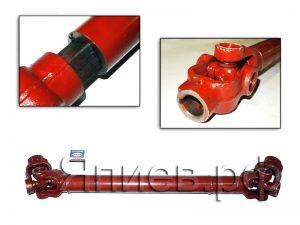 Вал карданный выгрузного шнека Вектор, Полесье (L=660-1020 мм; шп/паз d=30 мм) Н.081.02.200-17 ра