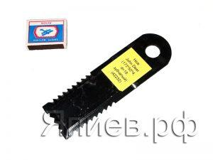 Нож соломоизмельчителя John Deer (173*50*4 мм; d=18; зубчатый) (42232)