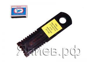 Нож соломоизмельчителя New Holland (175*50*4.5 мм; d=20; зубчатый) (51128)